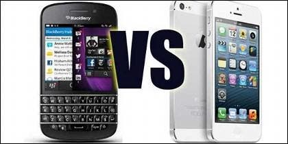 BlackBerry vs iPhone.