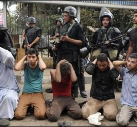 Represión en Egipto