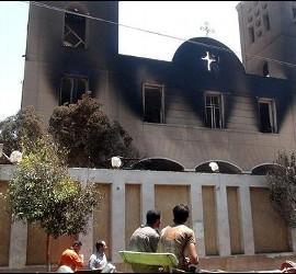Iglesia copta incendiada