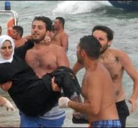 Imagen del rescate de inmigrantes