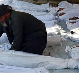 Algunas de las víctimas de lo que parece un ataque químico en Damasco.