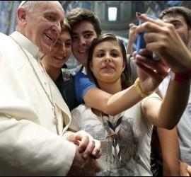 Una foto selfie de Francisco