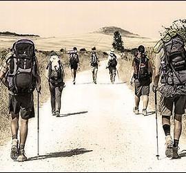 Peregrinos en el Camino de Santiago.