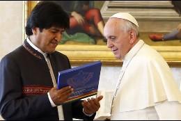 El Papa recibió a Evo Morales