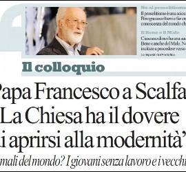 Entrevista del Papa a Scalfari