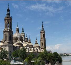 La Basílica del Pilar, en Zaragoza.