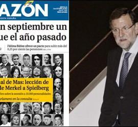 La Razón levantando la moral de Rajoy.