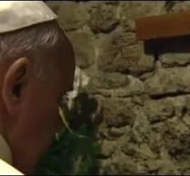 El Papa, en el Tugurio de Asís