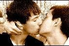 Beso, chicos, amor, gay.