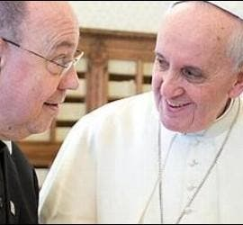 Francisco, junto al representante de los luteranos alemanes y el cardenal Koch