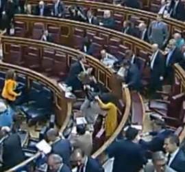 Desbandada en el Congreso de los diputados