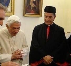 Benedicto, con los patriarcas orientales católicos
