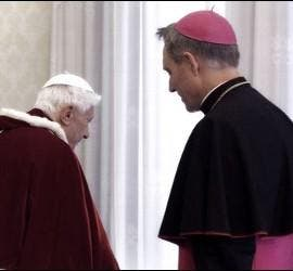 Benedicto y Gaenswein