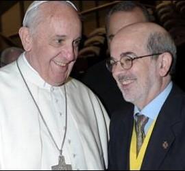 Emilí Turú, con el Papa