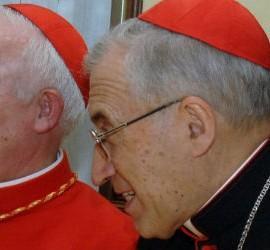 El cardenal Rouco y el cardenal Cañizares