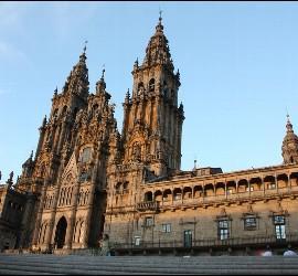 Plaza del Obradoiro y catedral de Compostela