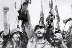 Fidel Castro y los revolucionarios cubanos en Sierra Maestra.