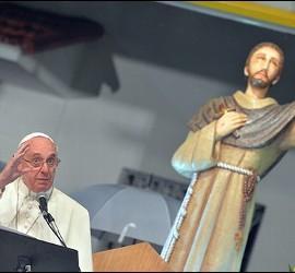 El Papa ante la figura de San Francisco de Asís
