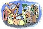 Vacaciones, viaje, equipaje, turistas y hotel.