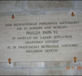 Visita de Pablo VI a Tierra Santa
