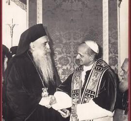 Pablo VI y el Patriarca Atenágoras