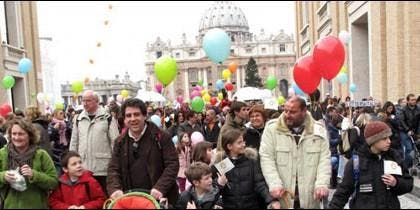 Familias cristianas en Roma