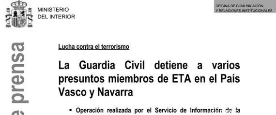El ministerio del interior anuncia una operaci n contra for De que se encarga el ministerio del interior