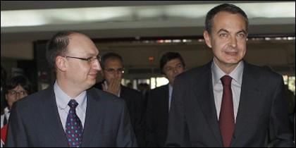 Fran Llorente y Zapatero.