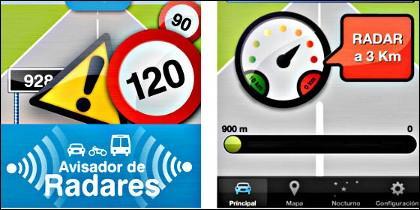 La aplicación para móviles 'Avisador de radares'.
