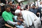 Francisco, con los pobres en Río