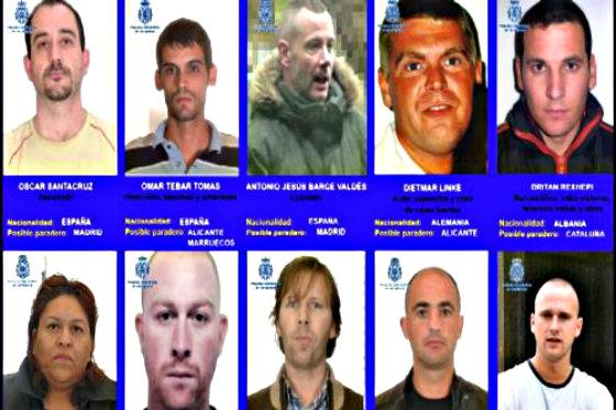 Los diez criminales más buscados que se esconden en España