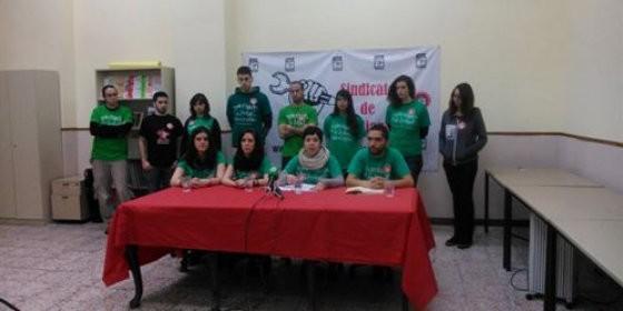 Sindicato de Estudiantes en rueda de prensa