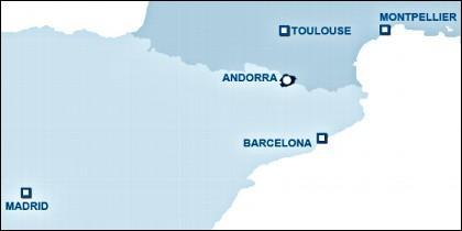 Mapa de Andorra.