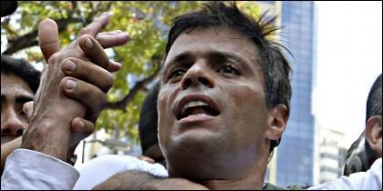 Leopoldo López, en el momento de su detención.