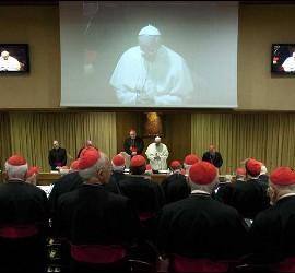 Francisco, durante el consistorio