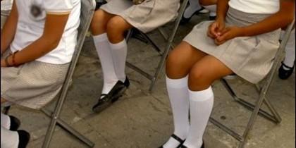 Niñas en un colegio