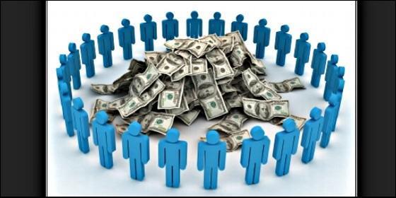 Crowfunding, start-up, proyecto e internet.