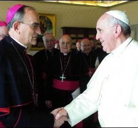 El Papa, con algunos obispos españoles