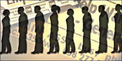 Paro, parados, empleo, desempleo y crisis económica.