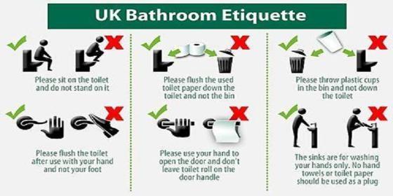 Baño Inodoro En Inglés:Las seis normas básicas para los usuarios del los baños del Lloyd