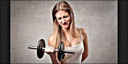 Gimnasio, ejercicio, deporte y salud.
