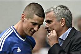Torres con Mourinho.