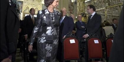La Reina y Rajoy en la catedral de Toledo