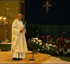 Osoro, en la misa en Roma