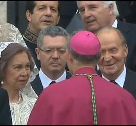 Los Reyes de España llegan a la canonización