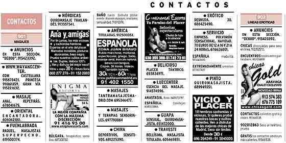 prostitutas en roma anuncios periodico prostitutas