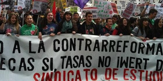 Manifestación estudiantil