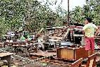 Casa destruidas por el tifón Haiyan en Filipinas