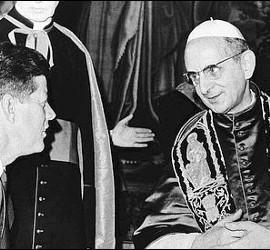 Pablo VI, con Kennedy