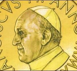 Anverso del euro del Vaticano